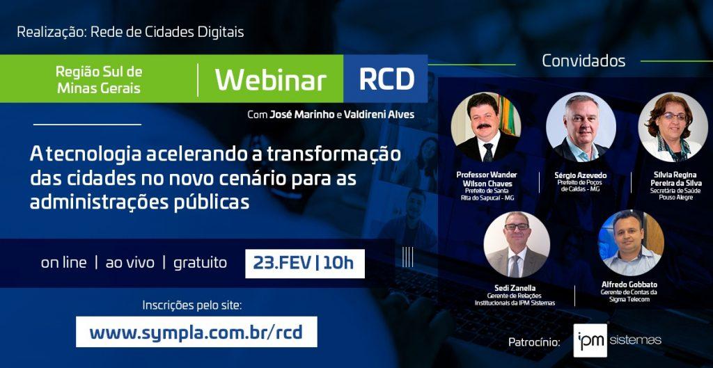 Uso de tecnologia nas Prefeituras é tema de webinar da Rede Cidades Digitais em Minas Gerais