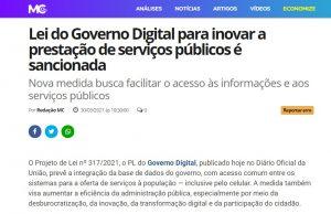 Matéria do Mundo Conectado fala do Governo Digital