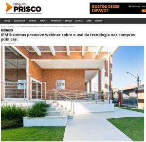 IPM Sistemas destaque no Blog o Prisco