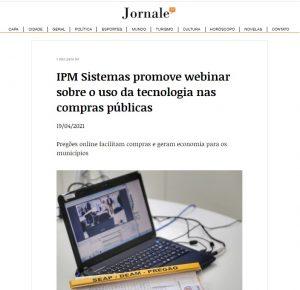 Jornale - Webinar IPM: como a tecnologia facilita o processo de compras públicas