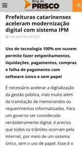 IPM Sistemas no Blog do Prisco - Prefeituras de SC ganham eficiência com modernização digital