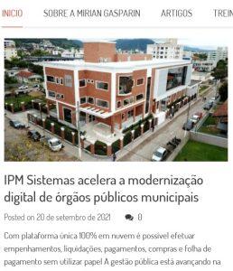 Modernização das Prefeituras paranaenses IPM Sistemas